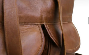 The Joanie Genuine Leather Diaper Bag