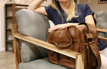 Load image into Gallery viewer, The Joanie Genuine Leather Diaper Bag