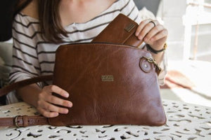 TAYLOR LEATHER SLING BAG