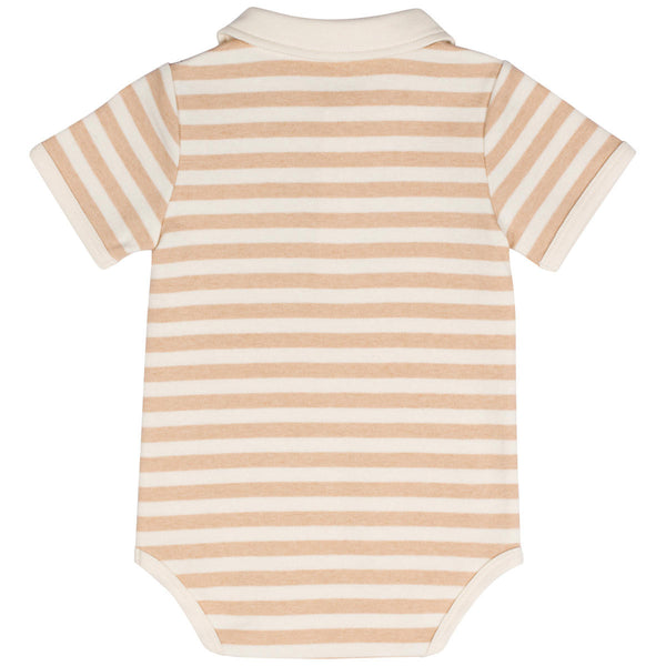 Organic Cotton Baby Boys' Polo Bodysuit