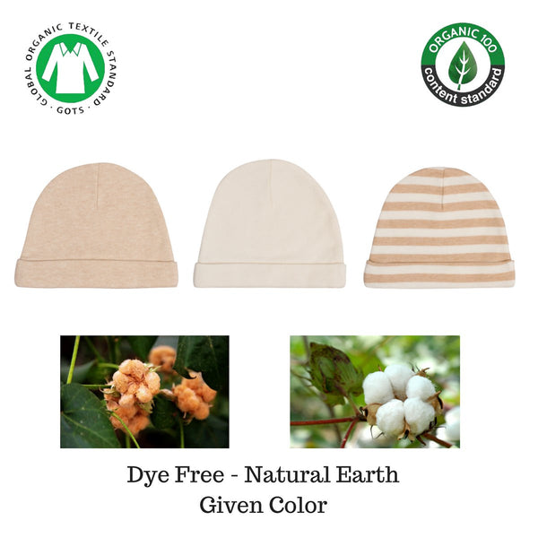 Organic Cotton Baby Caps All Natural