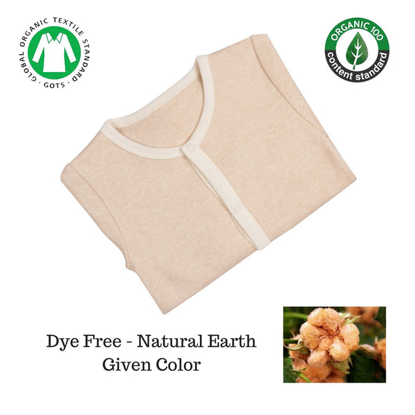 Organic Cotton Coverall Light Brown