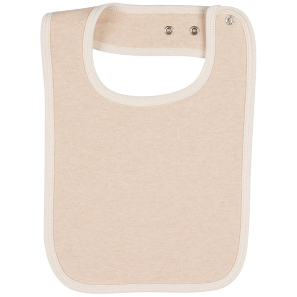 Organic Cotton Baby Bib Light Brown