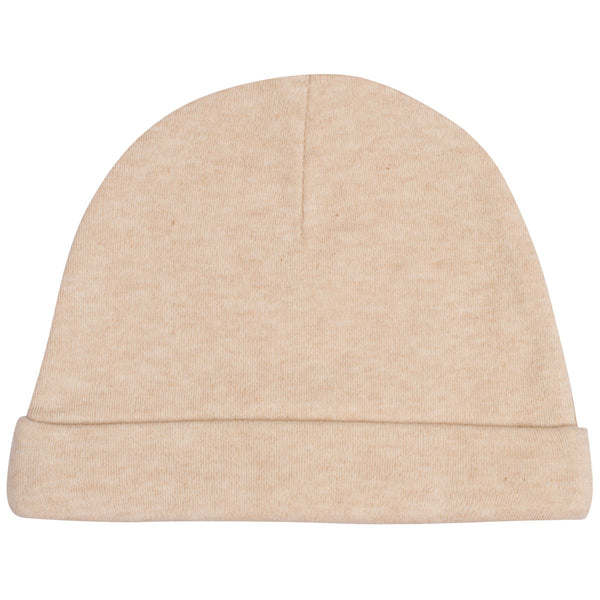Organic Cotton Baby Hat Light Brown