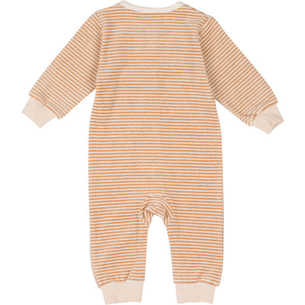Organic Cotton Velour Snap Front Coverall