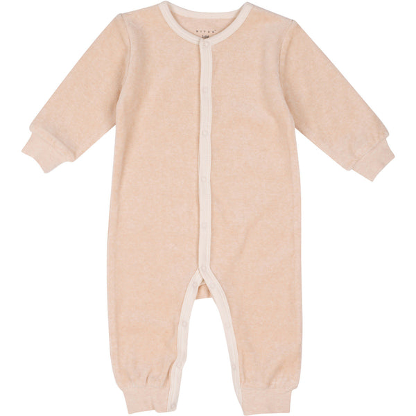 Organic Cotton Velour Coverall Light Brown