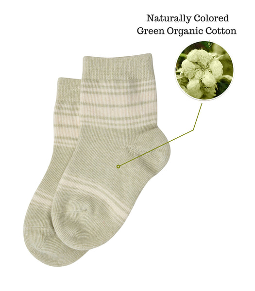 Organic Cotton Baby Socks-Green