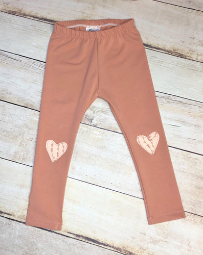 2/3T Canyon Leggings with Appliqué Hearts