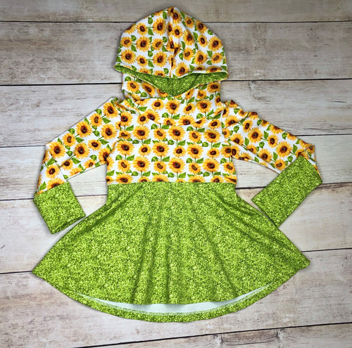 Sunflower Grow With Me Hoodie 3-6 years