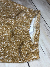 Load image into Gallery viewer, Faux Gold Glitter Leggings