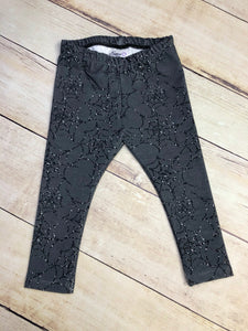 Faux Glitter Webs Leggings