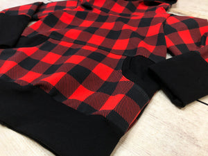 Buffalo Plaid 1-3 Year Grow with me Hoodie