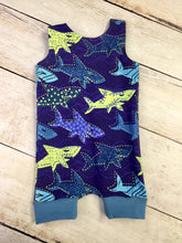 Load image into Gallery viewer, 6 Months Sharks Romper