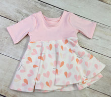 Load image into Gallery viewer, 6-9 Month Pink Hearts Isla Peplum Top