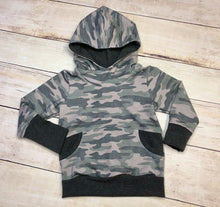Load image into Gallery viewer, Green Camo 1-3 Year Grow with me Hoodie