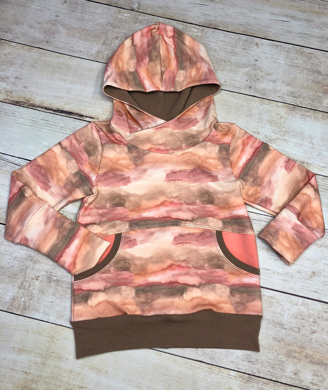 Painted Canyons 3-6 Year Grow with me Hoodie (flawed see description)