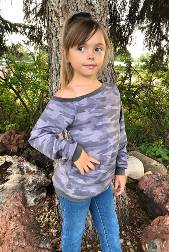 Size 8 Grey Camo Petty Top