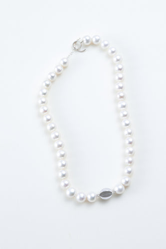 Freshwater pearl necklace -Pure white