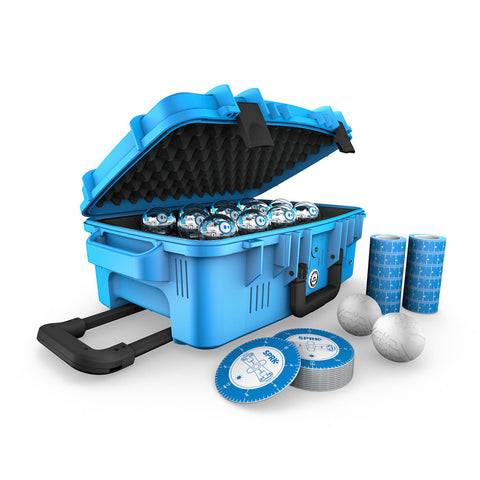 sphero suitcase with accessories outside case