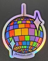 Holographic Disco Ball Sticker