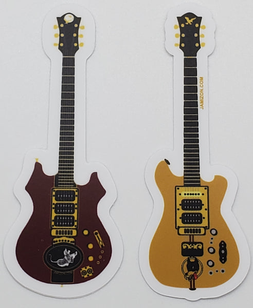 Tiger and Wolf Guitar set of Vinyl weatherproof die cut stickers