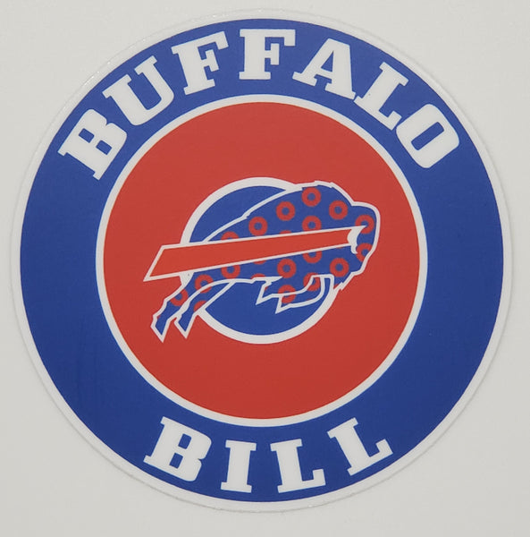 Buffalo Bill Circular Weather Proof Vinyl Sticker