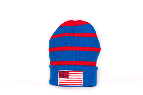 PHD Donuts and Stripes Fleece Lined Winter Beanie