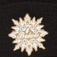 PHD Seven Below Black and Charcoal Knit Winter Hat with Pom Pom