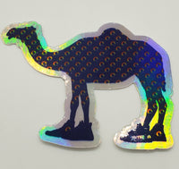 Camel Walk Holographic Die Cut Sticker