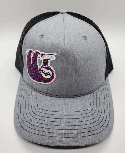 Phish Sloth Heather Grey Glow in the Dark Snapback Trucker Hat