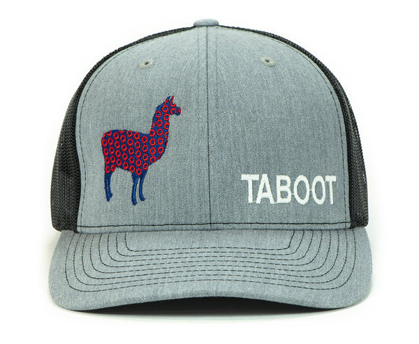 Phish Llama Taboot Glow In The Dark Heather Grey Trucker Hat