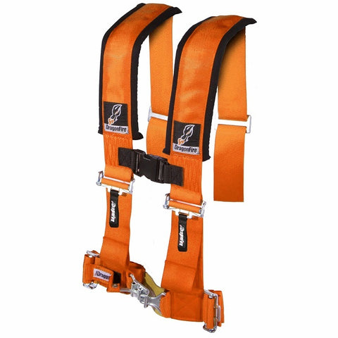 "Dragonfire Orange 4-Point H-Style 3"" Harness 14-0035"