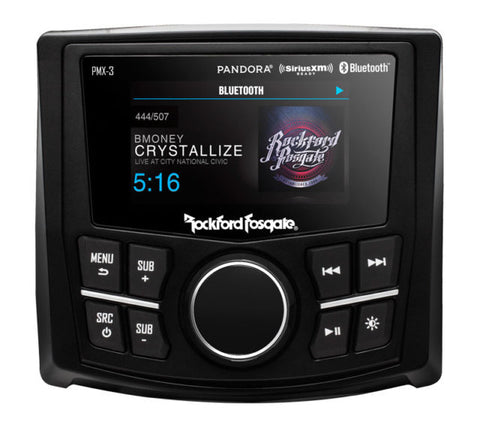 Rockford Fosgate Pmx-3 Punch 4 Polaris RZR Receiver Bluetooth