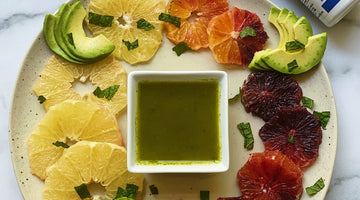 Citrus Avocado Salad with Honey Mint Probiotic Dressing