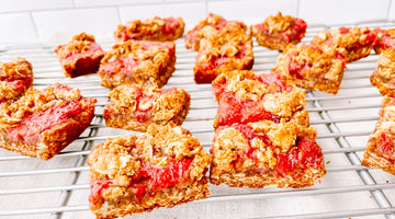 Probiotic Strawberry Crumble Bars