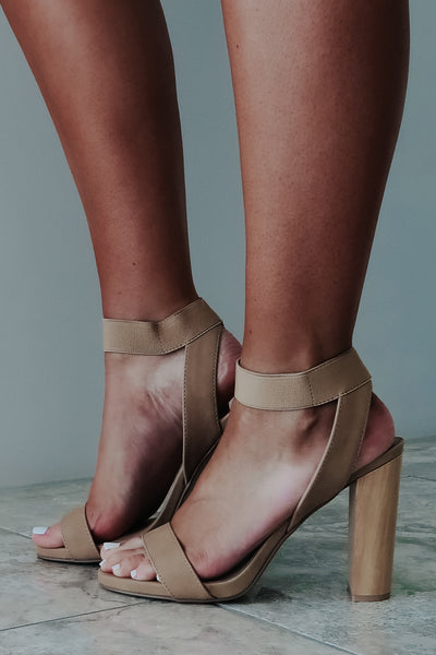 So Flirty Heels: Nude