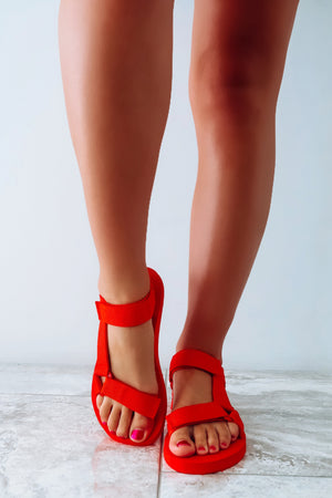 Sunny Summer Days Sandals: Red