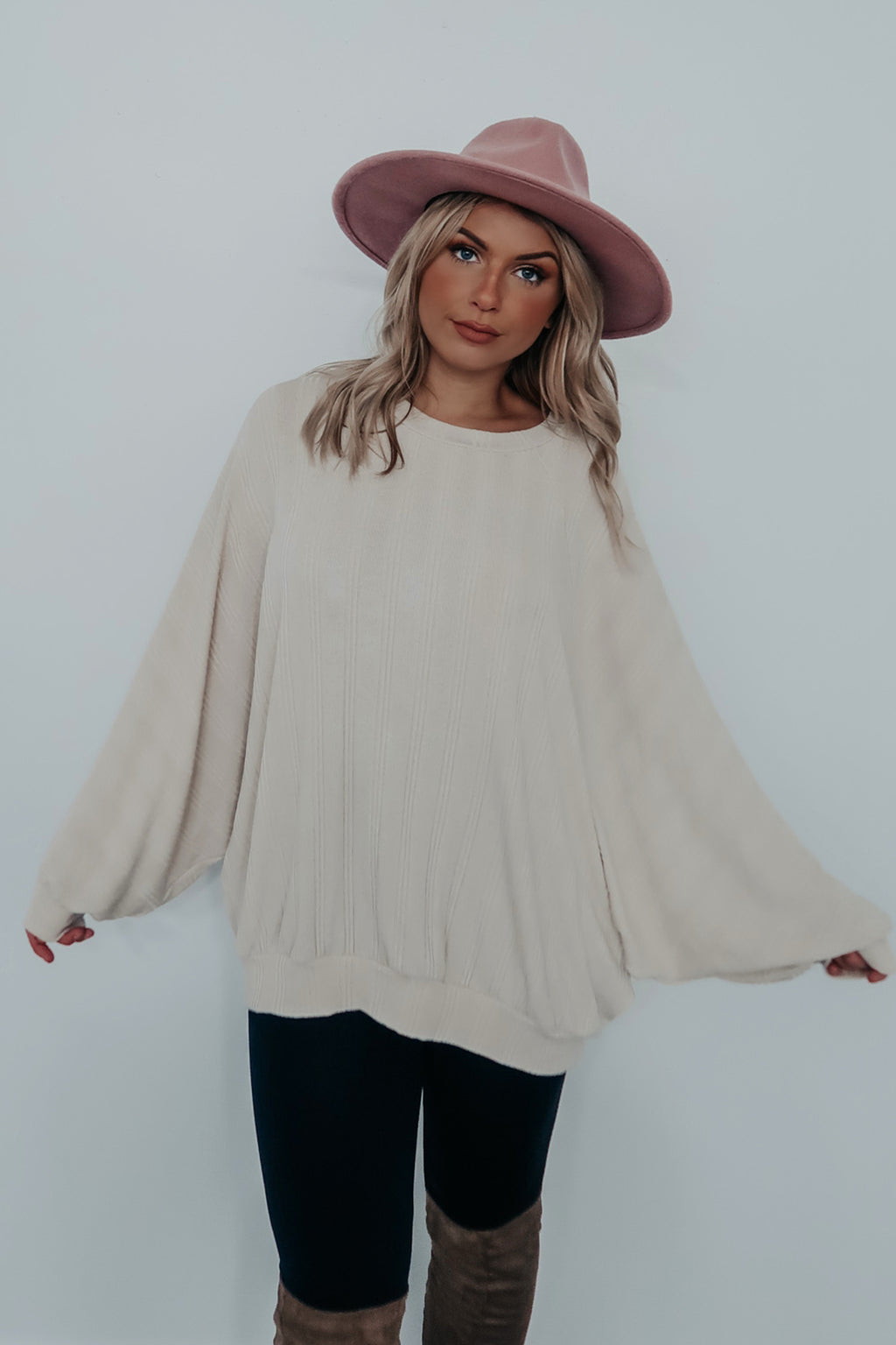 Let's Be Comfy Top: Beige