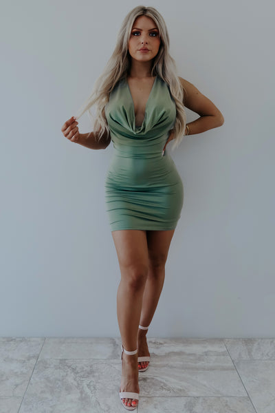 Want Your Heart Dress: Olive