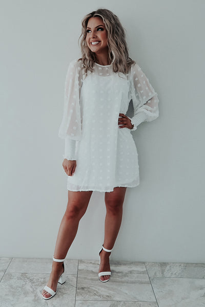 RESTOCK: Everything You Want Dress: White