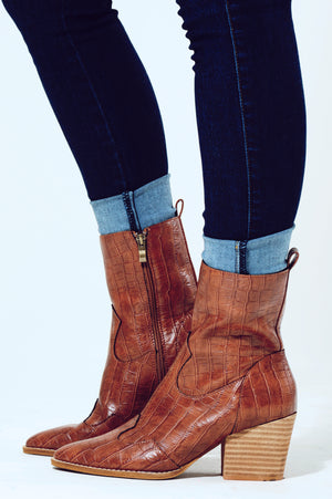 The Right Path Booties: Cognac