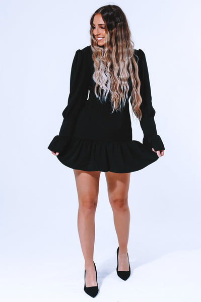 He Loves Me So Dress: Black