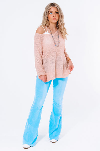 Feel The Breeze Sweater: Baby Pink
