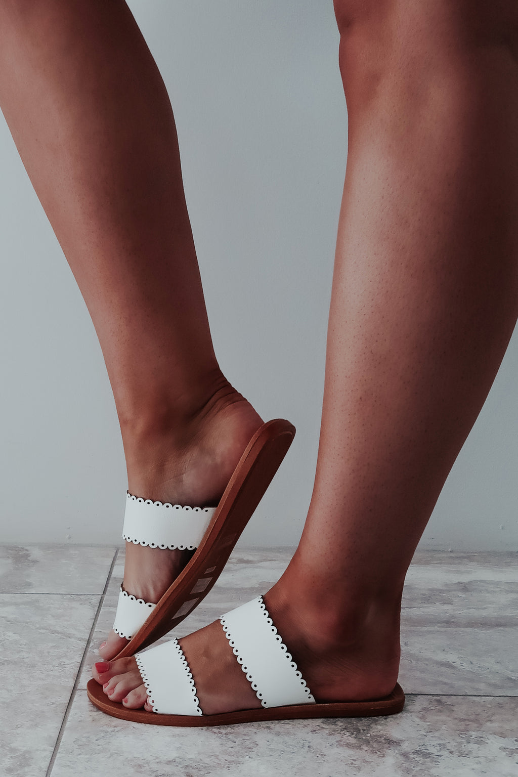 Summer Classic Sandals: White