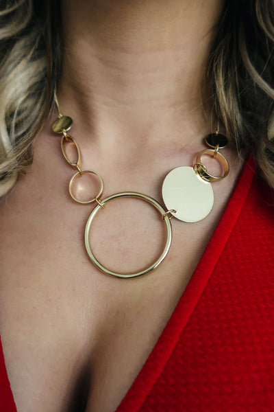 Away We Go Necklace: Gold