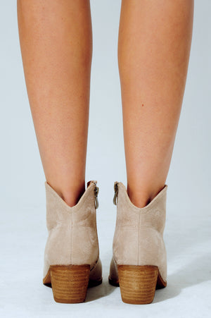 Return To You Booties: Nude