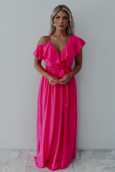 The Sweetest Thing Maxi: Hot Pink
