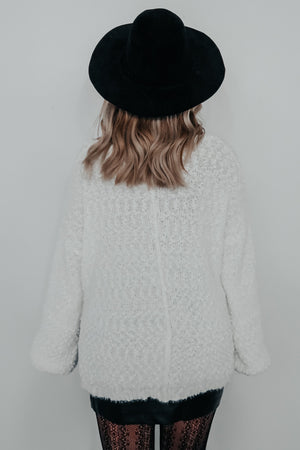 Thinking Ahead Sweater: White