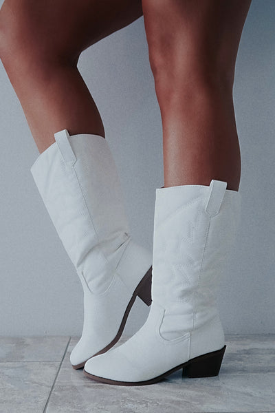 Looking For A Party Boots: White