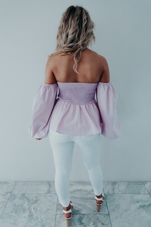 Girl Next Door Top: Lilac